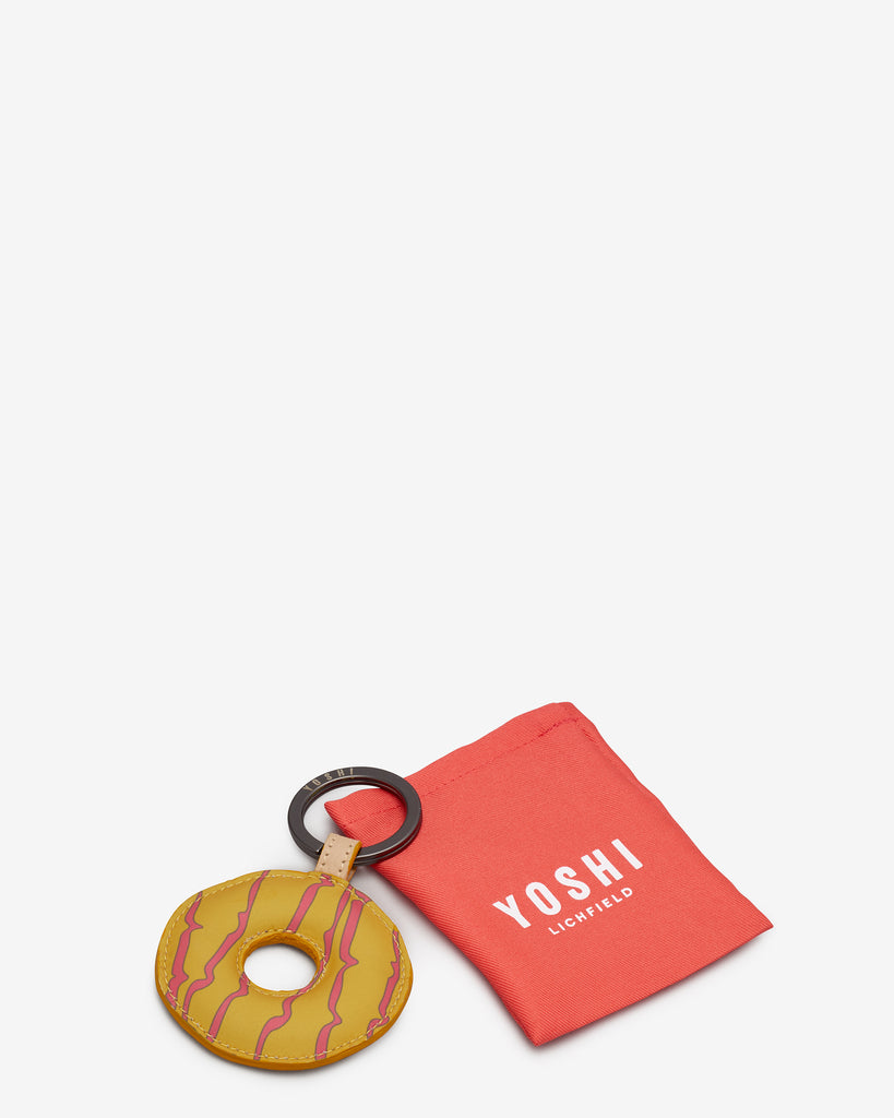 Teatime Favourites Iced Ring Yellow Leather Keyring -  - Yoshi