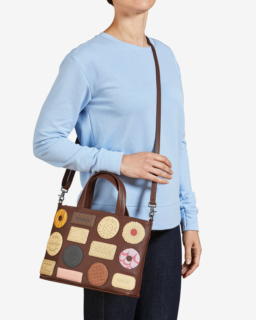 Teatime Favourites Brown Leather Multiway Grab Bag -  - Yoshi