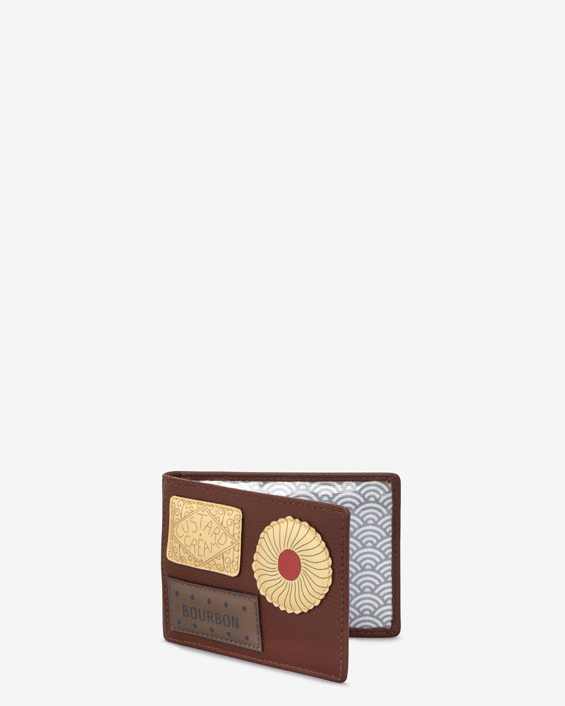 Teatime Favourites Brown Leather Travel Pass Holder -  - Yoshi