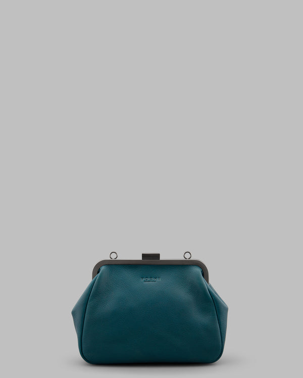 Tesla Teal Leather Cross Body Shoulder Bag A