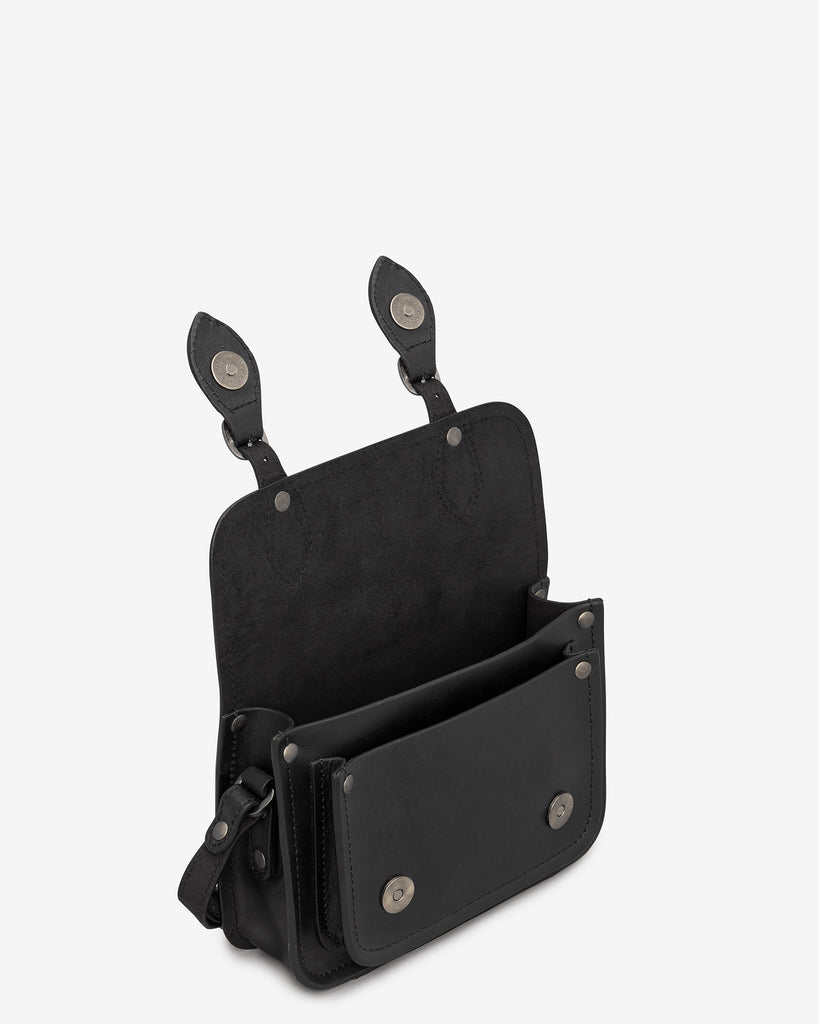 Tilney Black Leather Mini Satchel -  - Yoshi
