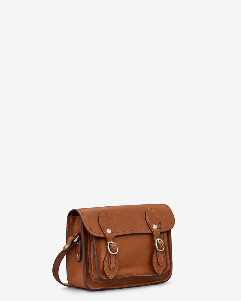 Tilney Brown Leather Mini Satchel - Yoshi