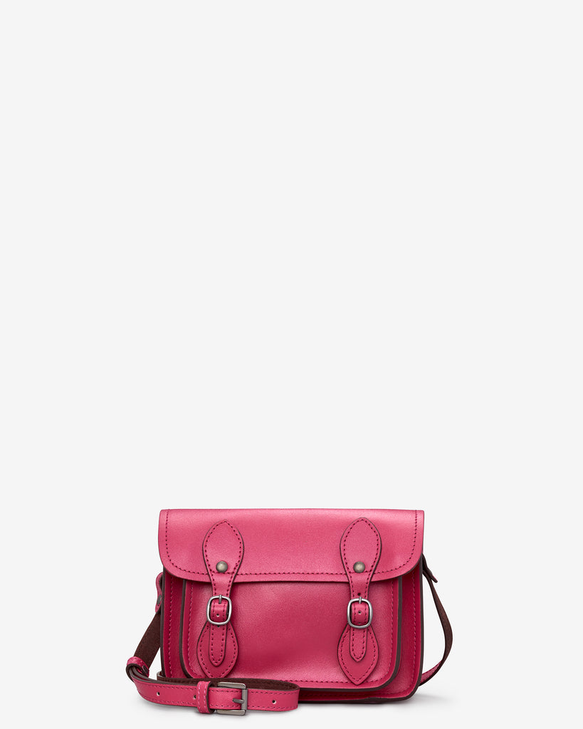 Tilney Fuchsia Pink Leather Mini Satchel - Yoshi