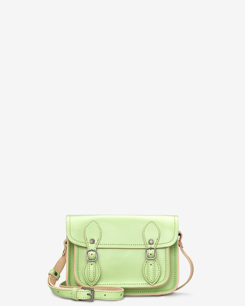 Tilney Green Leather Mini Satchel - Green - Yoshi