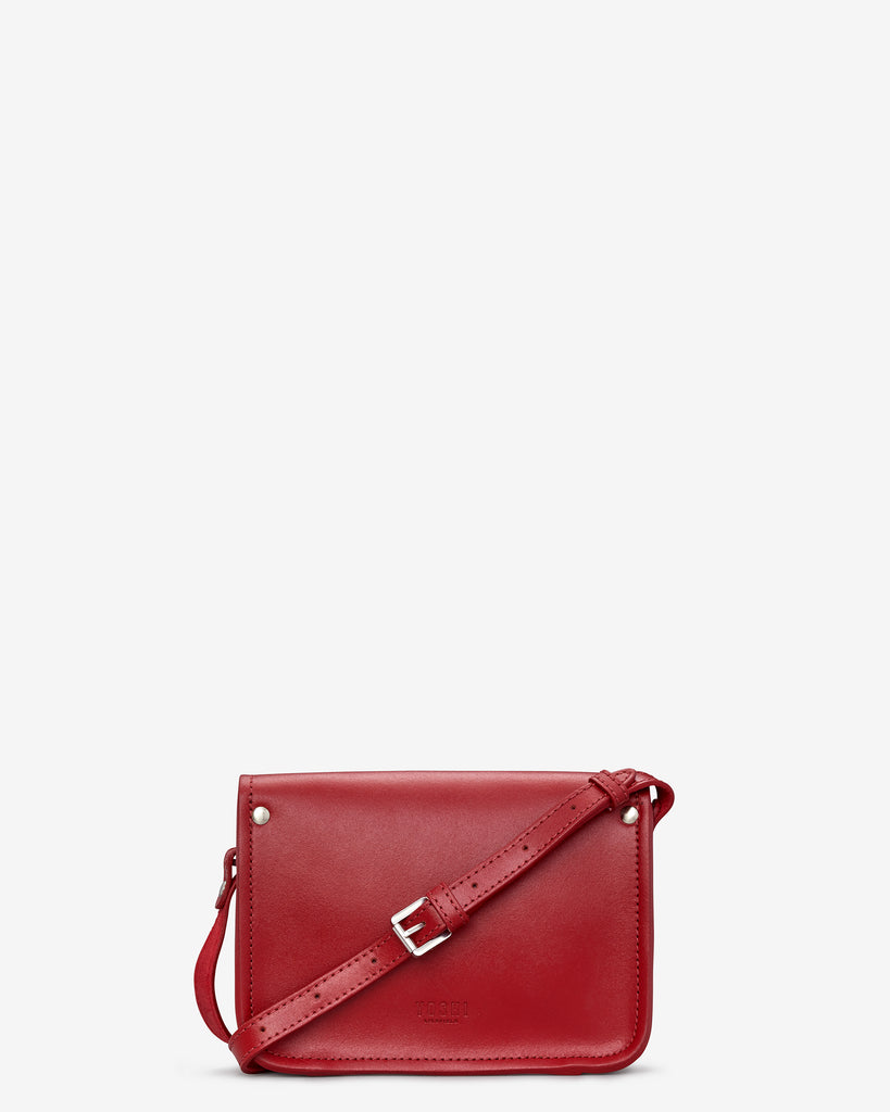 Tilney Red Leather Mini Satchel - Yoshi