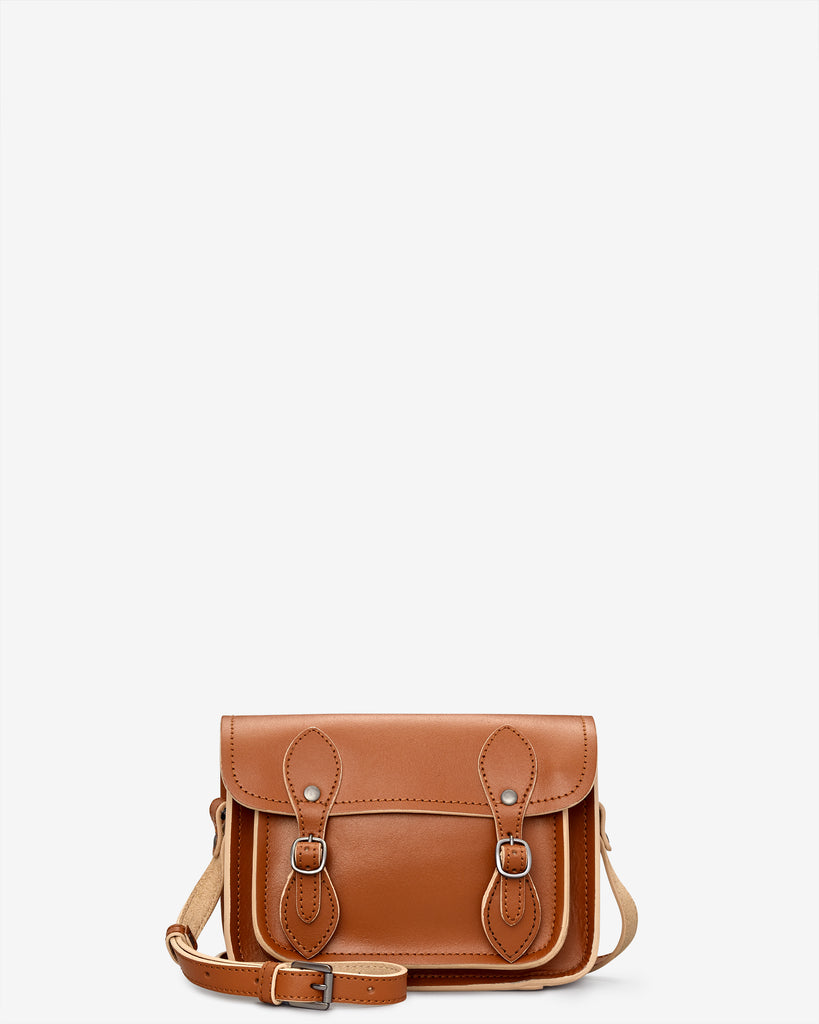 Tilney Tan Leather Mini Satchel - Tan - Yoshi