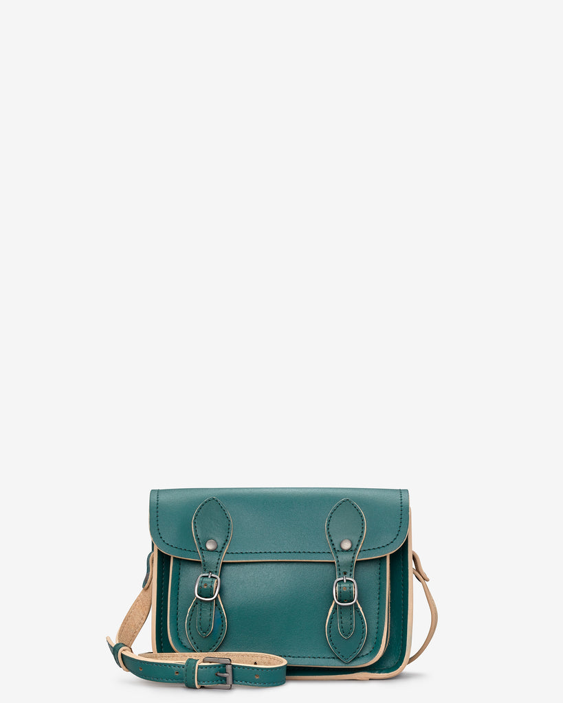 Tilney Racing Green Leather Mini Satchel - Racing Green - Yoshi