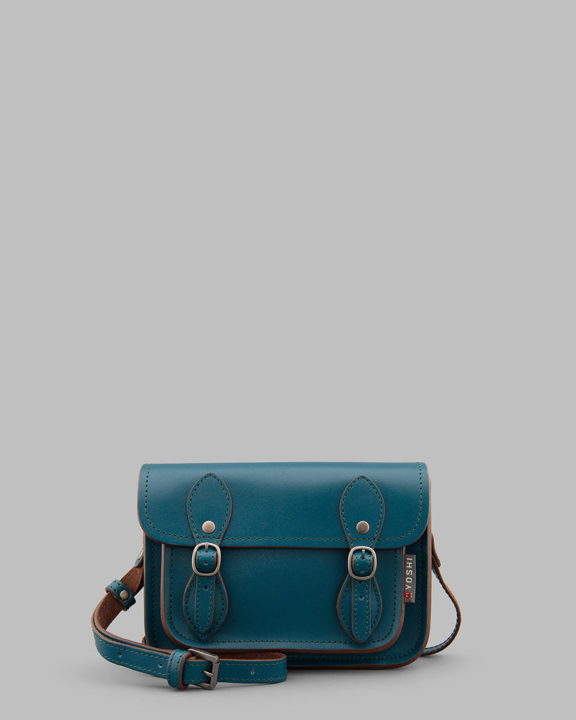 Tilney Teal Leather Cross Body Bag Satchel A