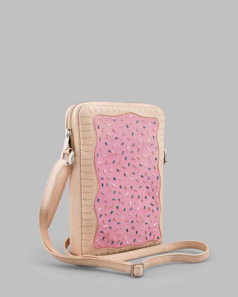 Toaster Pastry Leather Cross Body Bag c
