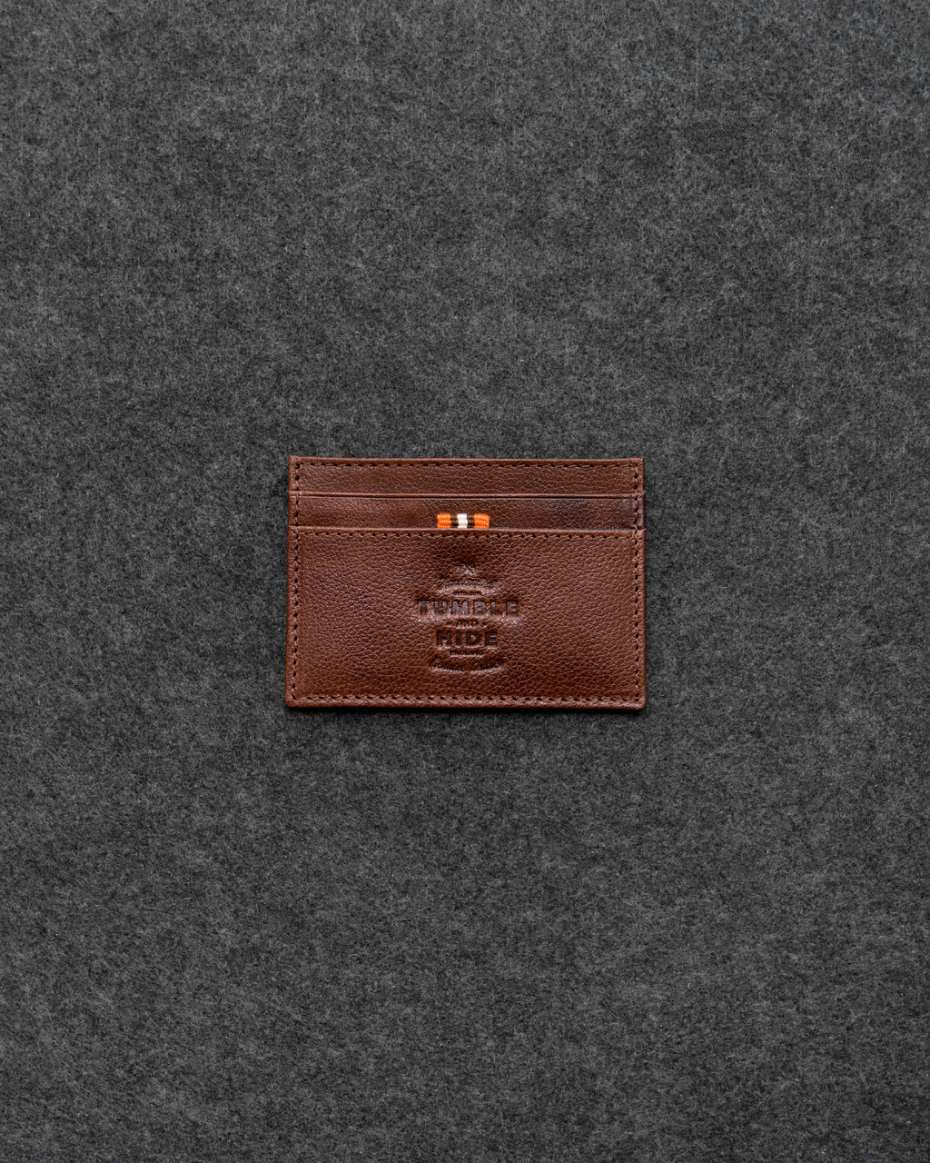 Tumble and Hide Apollo Leather Slim Credit Card Holder Wallet Brown a
