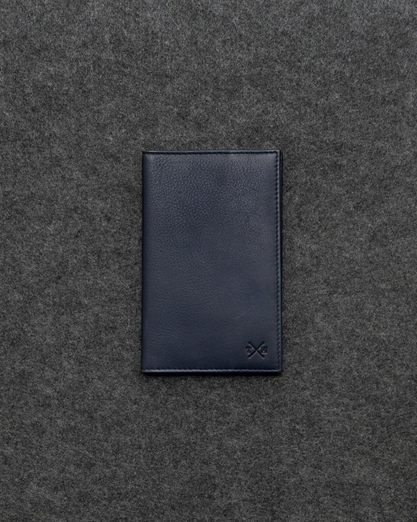 Newton Navy Leather Golf Scorecard Holder By Tumble And Hide - Navy - Tumble & Hide