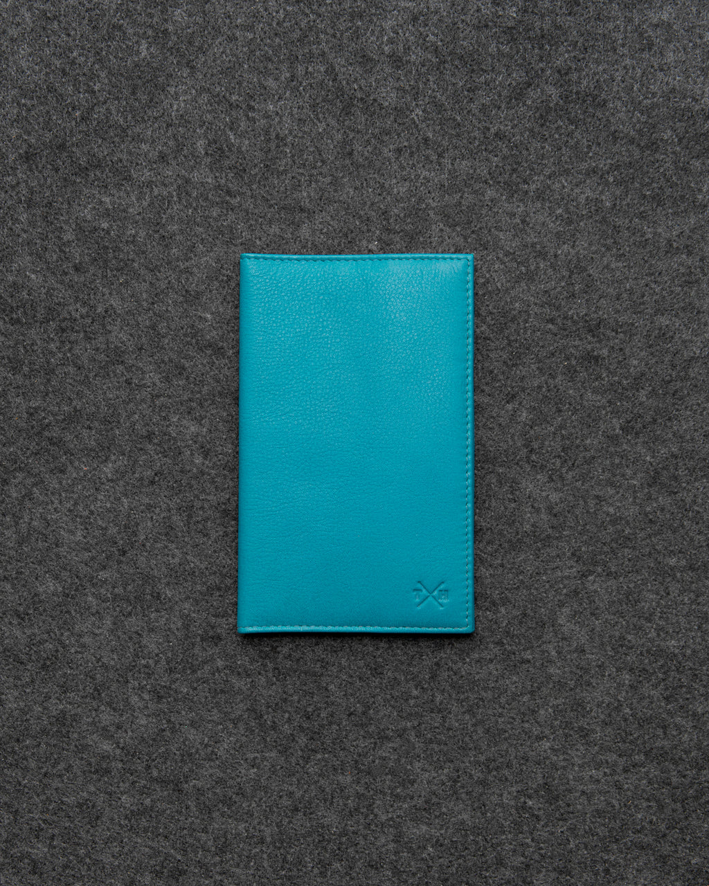 Tumble and Hide Newton Leather Golf Score Card Holder Scuba Blue b