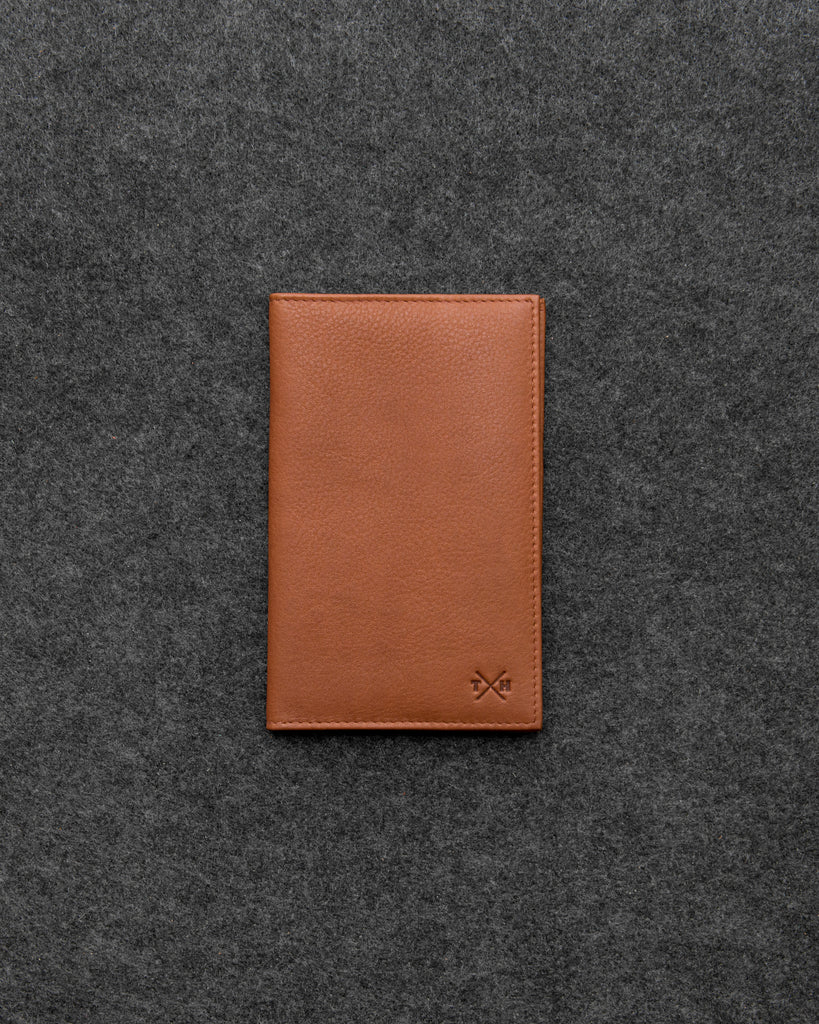 Newton Tan Leather Golf Scorecard Holder By Tumble And Hide - Tan - Tumble & Hide