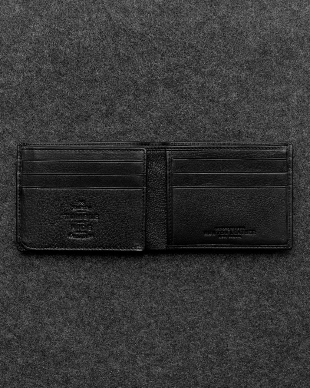 Tumble and Hide Newton Leather Journey Wallet Black a
