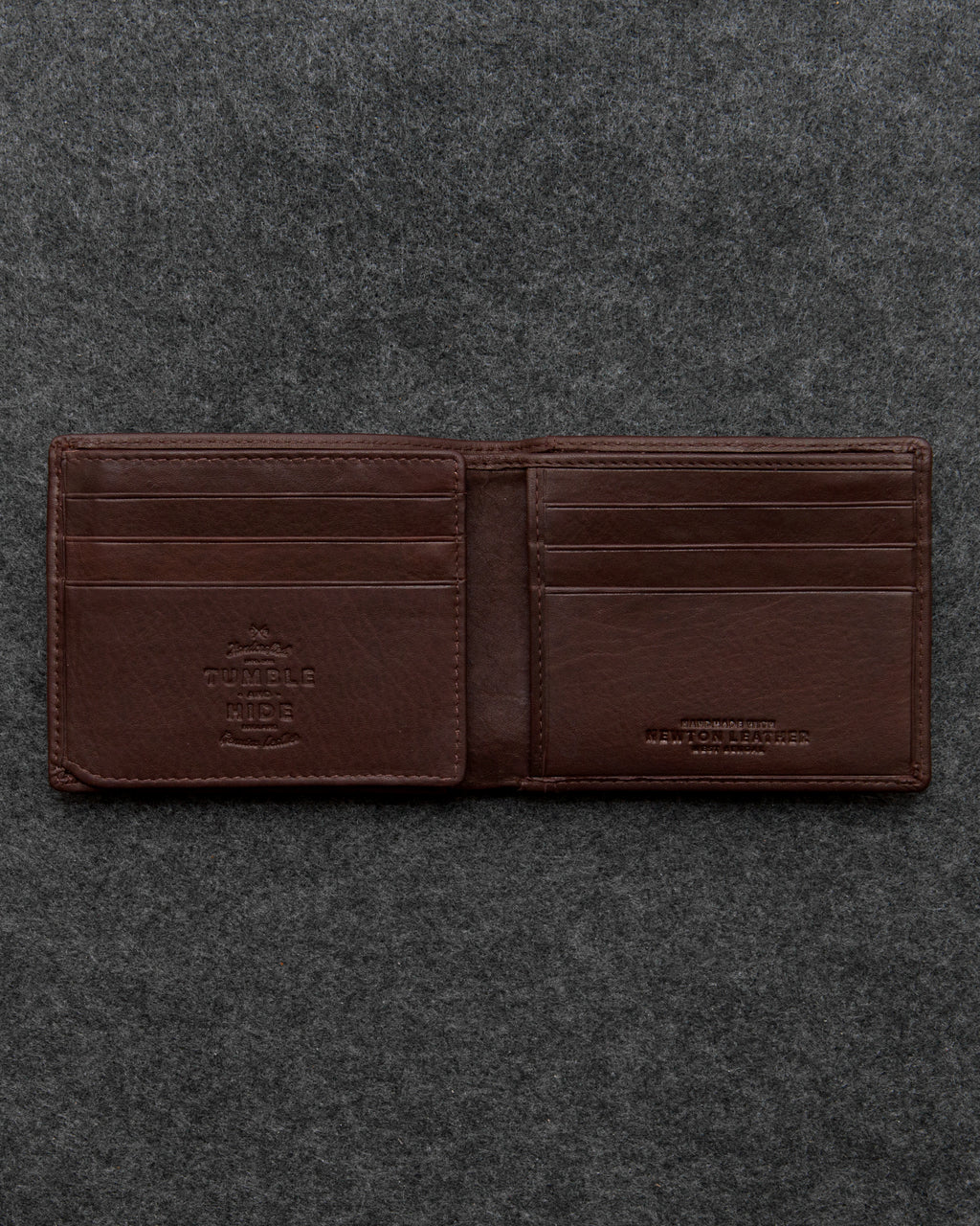 Tumble and Hide Newton Leather Journey Wallet Brown a