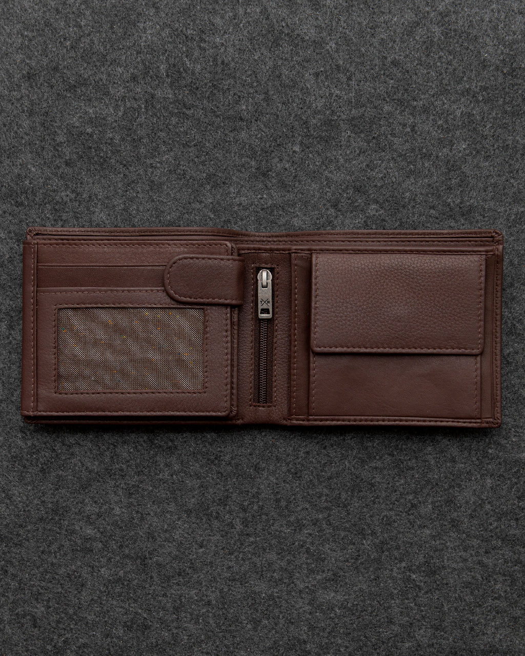 Tumble and Hide Newton Leather Large Capacity Wallet Brown a