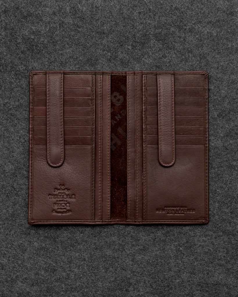 Brown Newton Leather Jacket Wallet - Brown - Gryphen