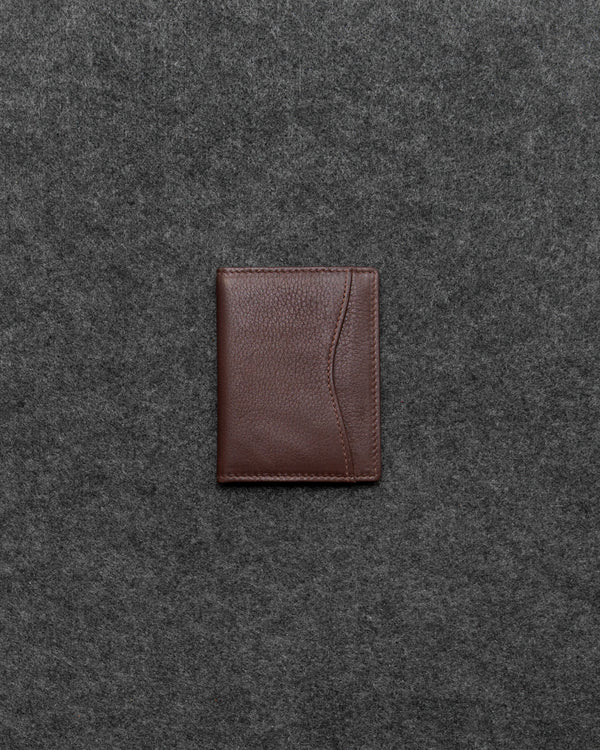 Brown Newton Leather Oyster Card Holder a