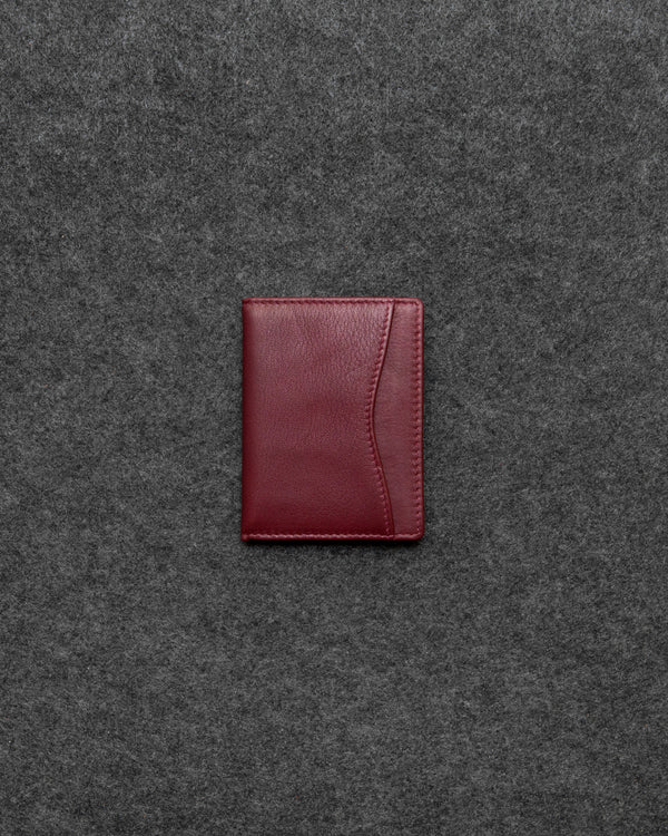 Oxblood Newton Leather Oyster Card Holder a