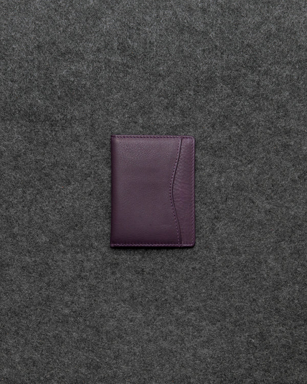 Purple Newton Leather Oyster Card Holder a