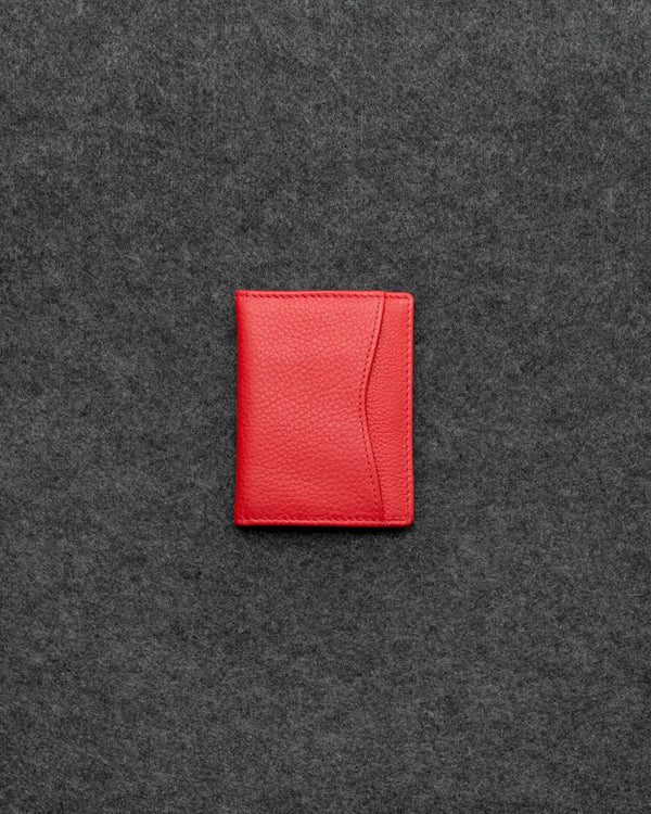 Red Newton Leather Oyster Card Holder a