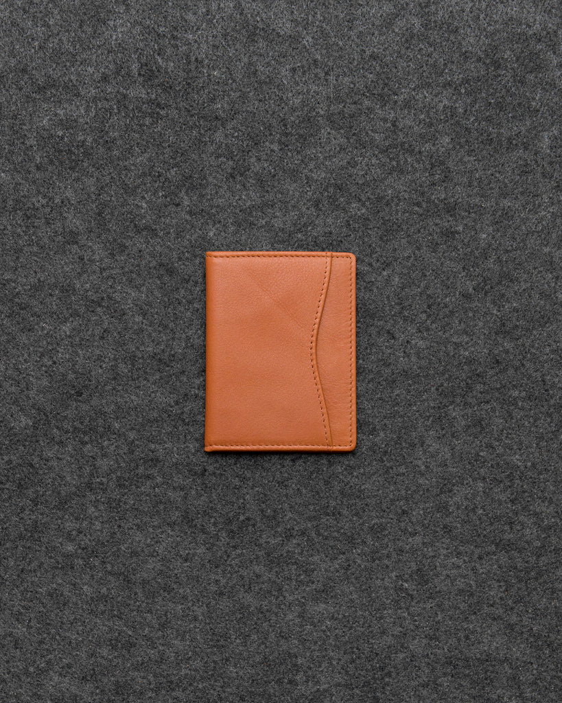 Tan Newton Leather Oyster Card Holder - Tan - Tumble and Hide