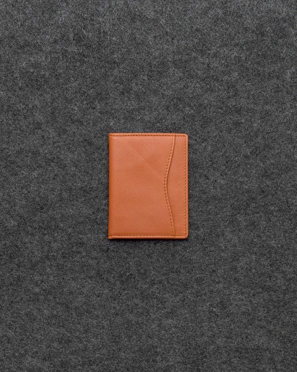 Tan Newton Leather Oyster Card Holder a