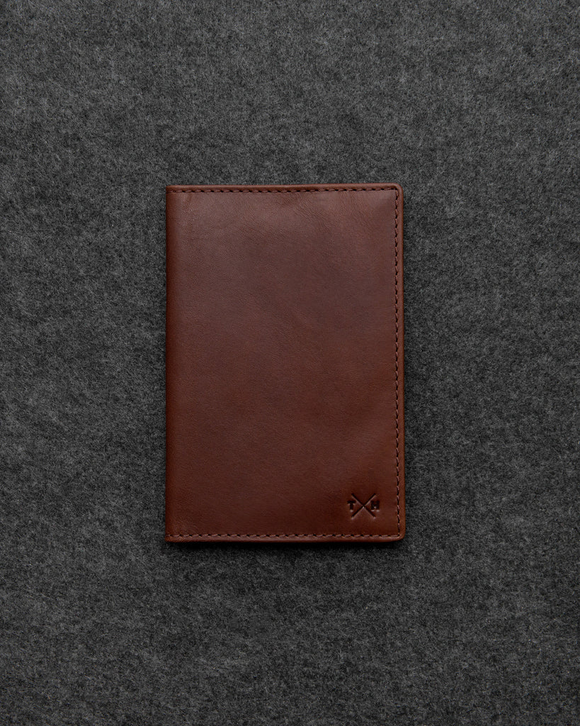 Brown Leather Golf Scorecard Holder By Tumble And Hide - Brown - Tumble & Hide