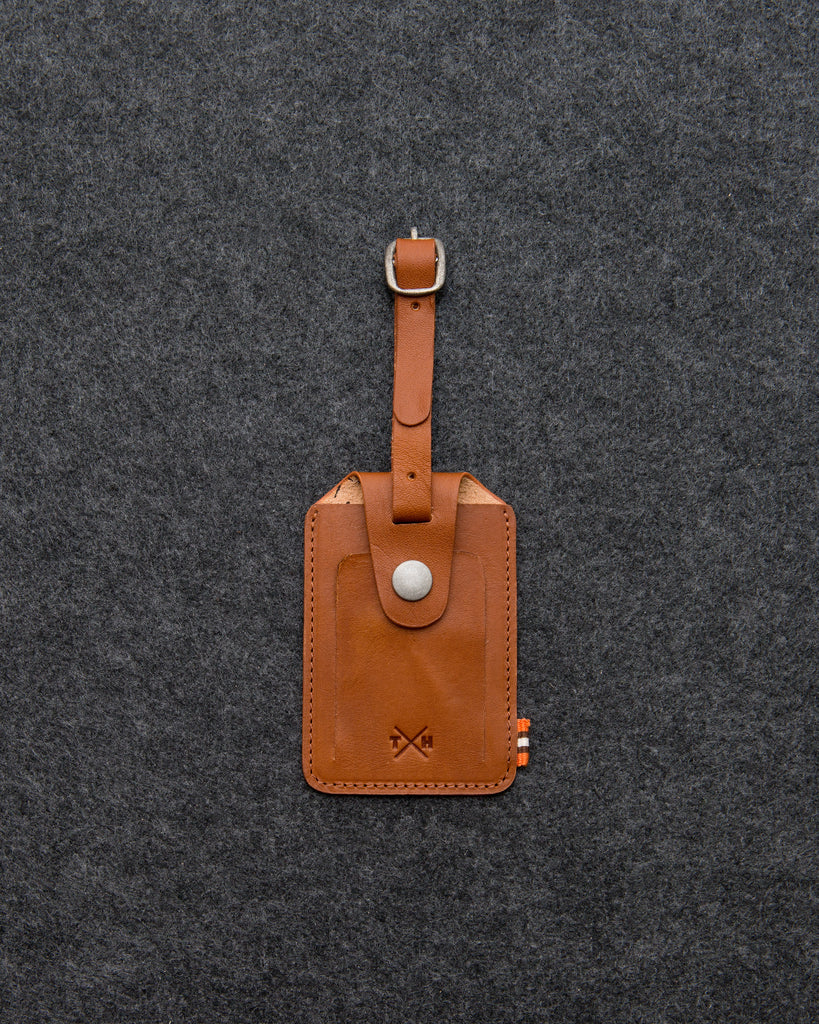 Tan Leather Luggage Tag By Tumble And Hide - Tan - Tumble & Hide