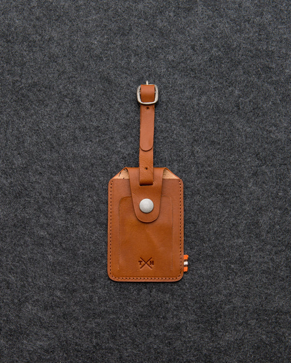 Tumble and Hide Tudor Leather Luggage Tag Tan a