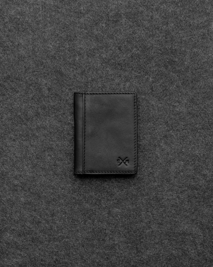 Black Tudor Leather Oyster Card Holder - Black - Tumble and Hide