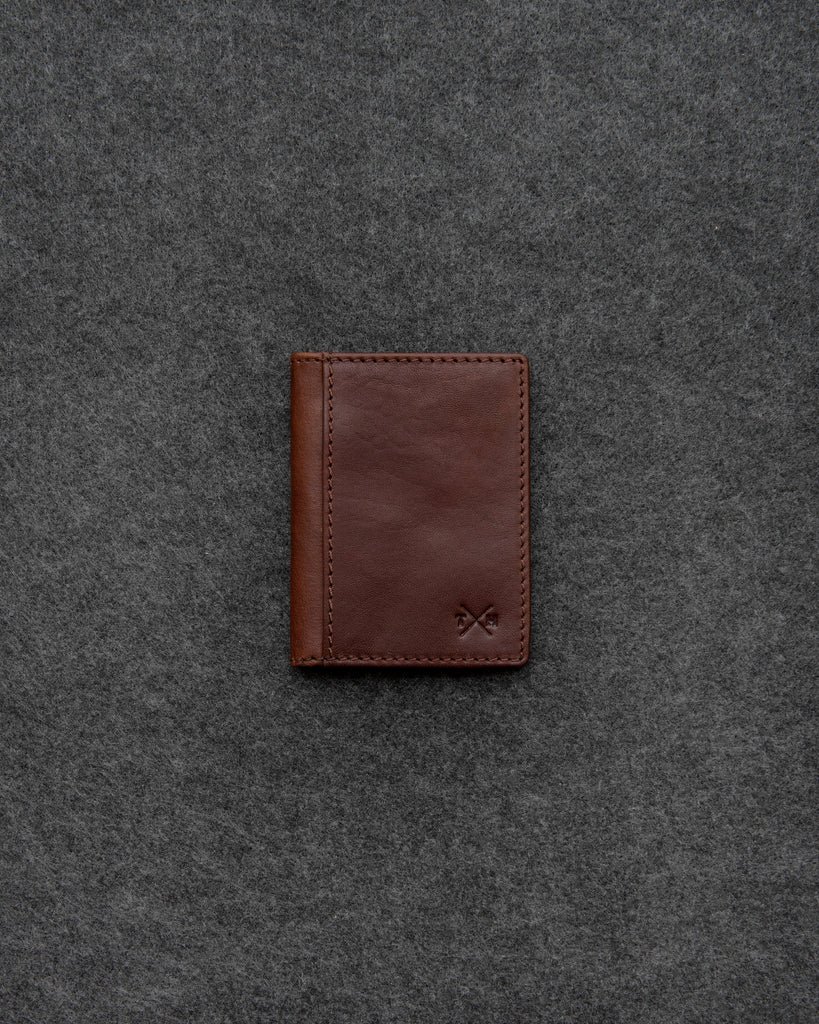 Brown Tudor Leather Oyster Card Holder - Brown - Tumble and Hide