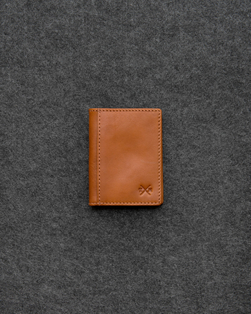 Tan Tudor Leather Oyster Card Holder - Tan - Tumble and Hide