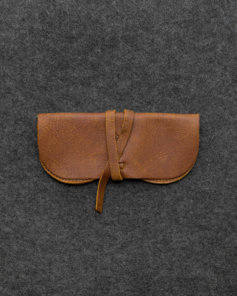 Yukon Leather Wrap Around Glasses Case By Tumble And Hide - Brown - Tumble & Hide