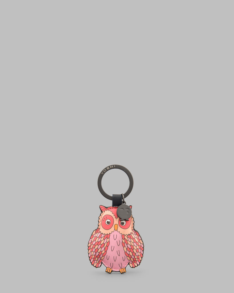 Twit Twoo Navy Leather Owl Keyring - Navy - Yoshi