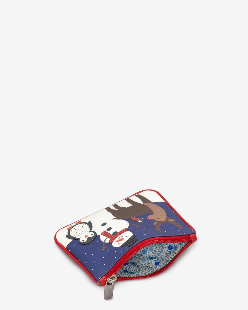Winter Friends Zip Top Leather Purse -  - Yoshi