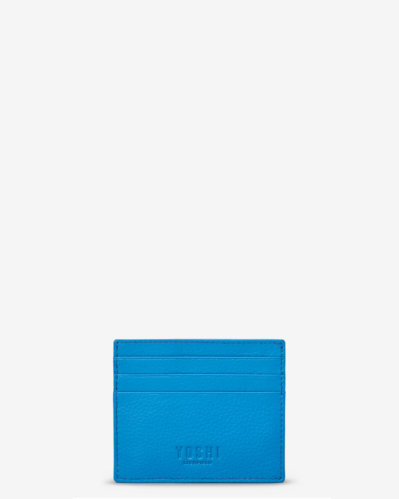 Cobalt Blue Leather Wooster Card Holder - Yoshi