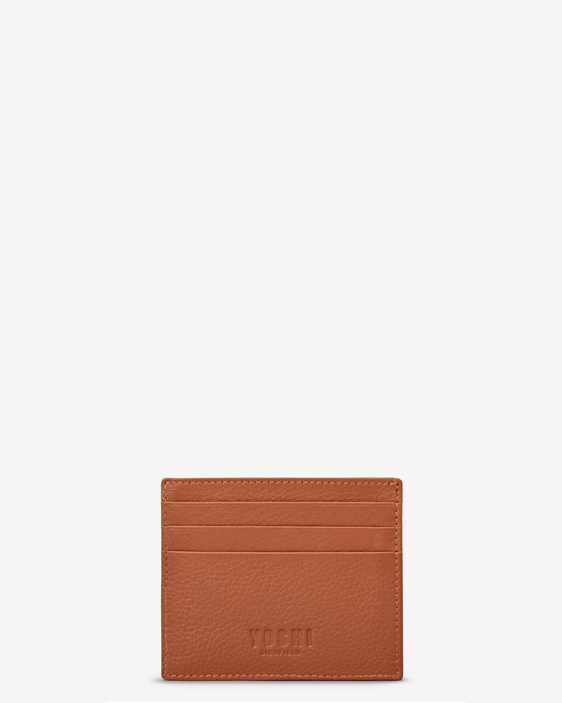 Tan Leather Wooster Card Holder - Yoshi