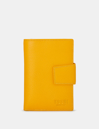 Yellow Leather Anson Purse - Yoshi