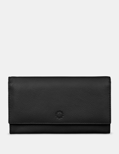 Black Leather Hudson Purse - Yoshi