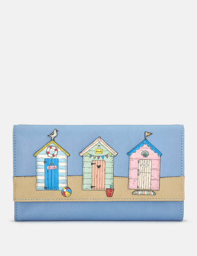 Happy Daze Blue Leather Hudson Purse - Yoshi