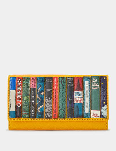 Bookworm Yellow Leather Hudson Purse - Yoshi