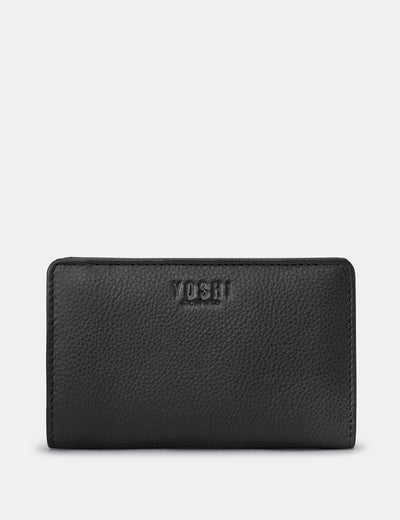 Black Leather Oxford Purse - Yoshi