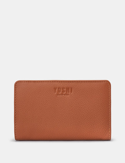 Tan Leather Oxford Purse - Yoshi