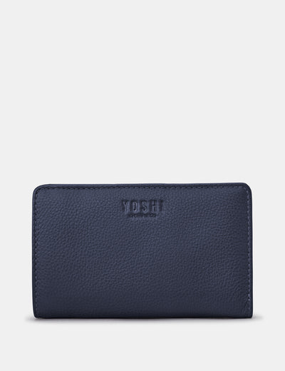 Navy Leather Oxford Purse - Yoshi