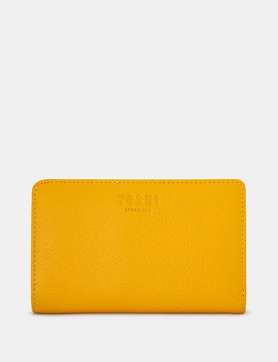 Yellow Leather Oxford Purse - Yoshi