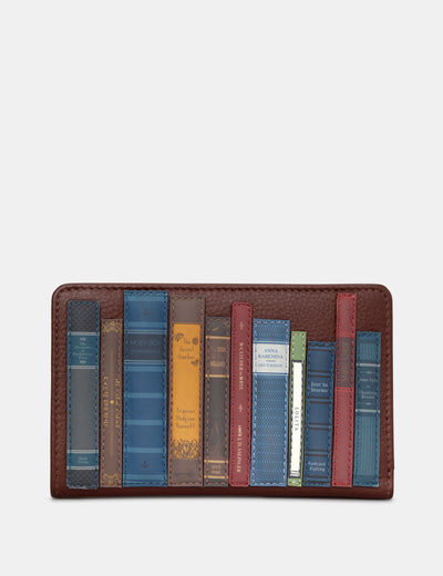 Bookworm Brown Leather Oxford Purse - Yoshi
