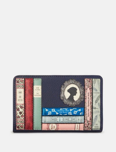 Jane Austen Bookworm Navy Leather Oxford Purse - Yoshi