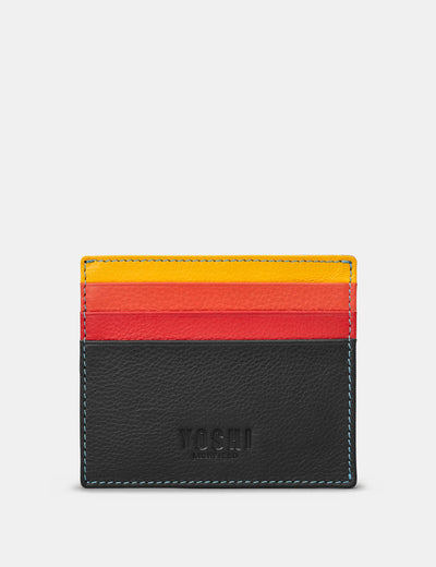 Black Multi Leather Wooster Card Holder - Yoshi