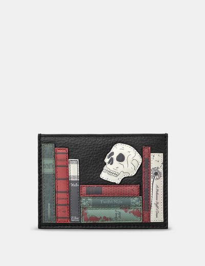 Shakespeare Bookworm Black Leather Academy Card Holder - Yoshi